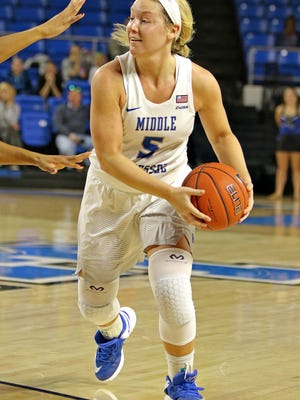 MTSU guard Abbey Sissom recorded a career high 21 points against Tulane.