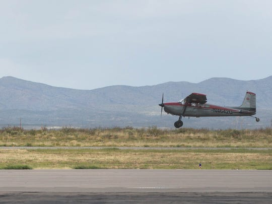 A plane takes off at the Las Cruces International Airport, Friday Oct. 13, 2017. Thursday night, a plane crashed four miles northeast of the airport killing Morris Doug Newton, 77, of Las Cruces and David Glenn Hancock, 67, of El Paso. Newton, a long-time pilot, was  a member of the city's Airport Advisory Board.
