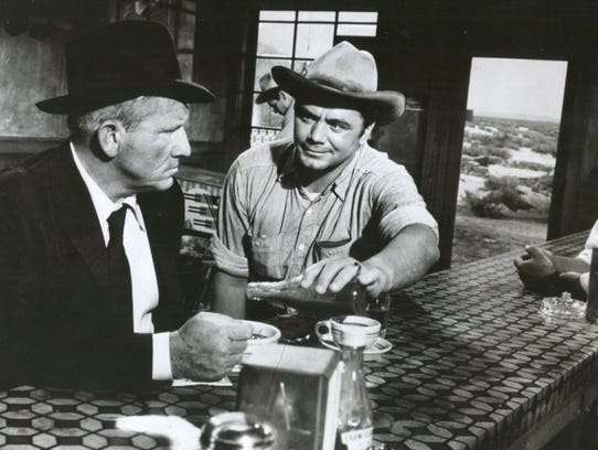 Borgnine bullies Spencer Tracy in 'Bad Day at Black