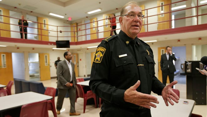 Acting Milwaukee County Sheriff Richard Schmidt led a recent tour of the County Jail.
