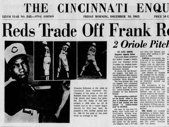 On this day, 51 years ago, the Cincinnati Reds traded future Hall of Famer Frank Robinson to the Baltimore Orioles.