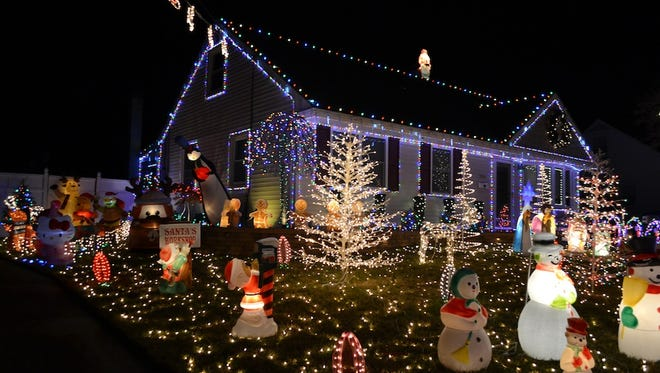 This home on the 500 block of Muhlenberg Avenue in Wenonah is among a number with standout Christmas displays.