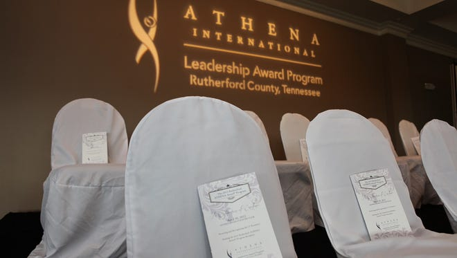 This year's ATHENA Award ceremony will begin at 5 p.m. April 28 at Stones River Country Club in Murfreesboro.