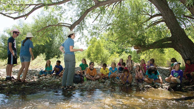 Students learn to teach a wide variety of age groups and topics at CSU's Environmental Learning Center.