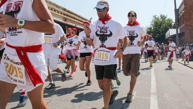Seville Quarter presents the 5th annual Festival de San Fermin en Pensacola Running of the Bulls Saturday morning.