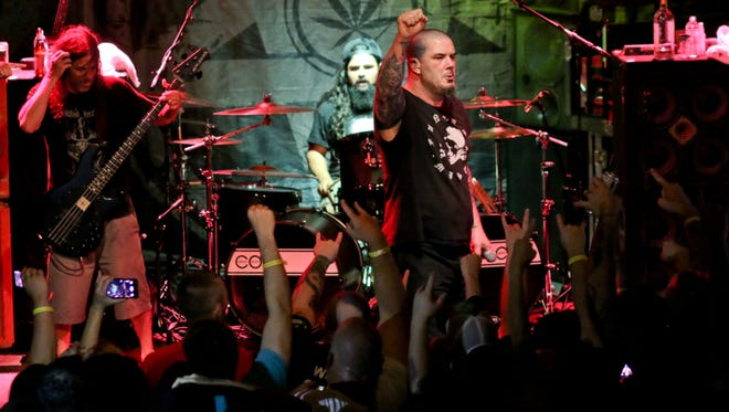 Phil Anselmo's Superjoint performs at Vinyl Music Hall Friday night.