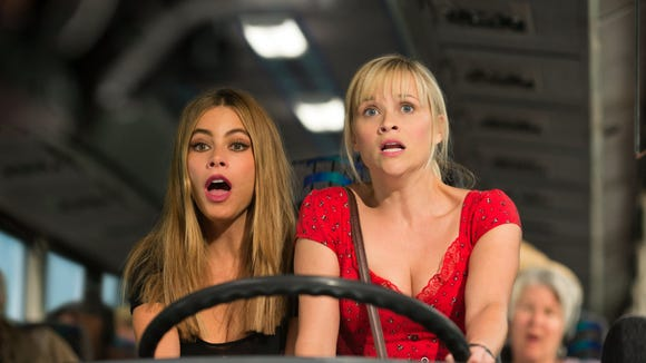 """Sofia Vergara and Reese Witherspoon in a scene from the motion picture """"Hot Pursuit."""""""