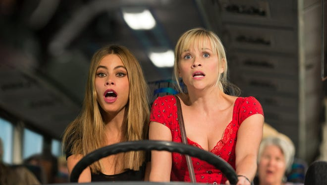 "Sofia Vergara and Reese Witherspoon in a scene from the motion picture ""Hot Pursuit."""