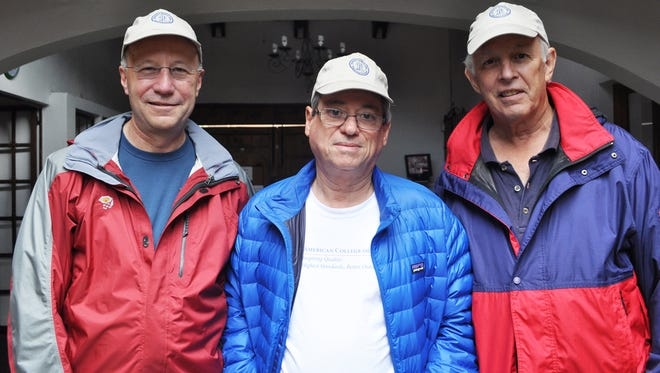 UHMLA is dedicated to bringing surgical procedures to poor and under served countries in Latin America. From left to right: Dr. William Diehl, Dr. Rolando Rolandelli, and Dr. Edward McLean, three of the four doctors who established Unidad Hospitalaria Movil Latino America (UHMLA) in 2011 along with Dr. Gerald Lefever, (not pictured).