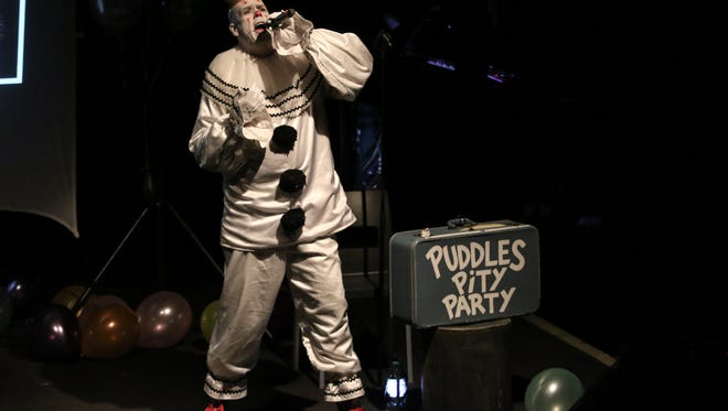 Puddles Pity Party at Vinyl Music Hall combined laughter, music and crowd participation led by the smooth and powerful baritone voice of Puddles the Clown Tuesday night.