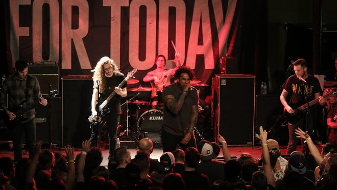 For Today performs at Vinyl Music Hall Thursday night.