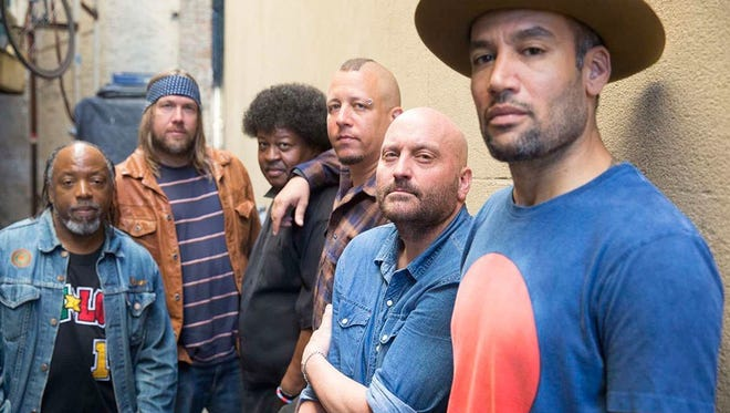 """Ben Harper & the Innocent Criminals. """"You would think producing as a collective would be its own challenge with too many cooks, but it turned out to be just right,"""" says Harper, right, of the band's new album."""