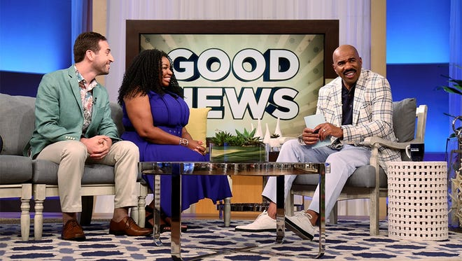 Nashville couple Jacob and Joy Weiss got a big wedding present surprise from comedian Steve Harvey when they appeared on his show — $10,000 toward their foundation to address hunger in Nashville.