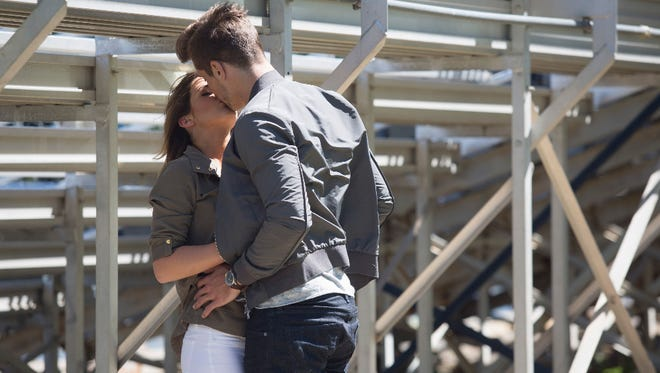 """Jordan Rodgers and JoJo Fletcher took the romance from his high school's bleachers last week to a fantasy suite on Monday night's episode of """"The Bachelorette."""" He's one of two finalists."""