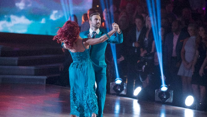 """DANCING WITH THE STARS - """"Episode 2301"""" - """"Dancing with the Stars"""" is back with its most dynamic cast yet and ready to hit the ballroom floor. The competition begins with the two-hour season premiere, live, MONDAY, SEPTEMBER 12 (8:00-10:01 p.m. EDT), on the ABC Television Network. (ABC/Eric McCandless)SHARNA BURGESS, JAMES HINCHCLIFFE"""