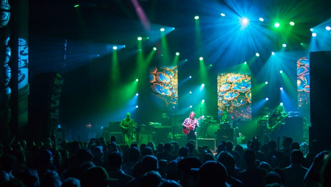 A capacity crowd was on its feet when Widespread Panic performed at the Saenger Theatre last month.