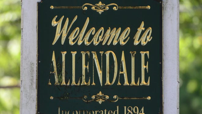 Allendale, NJ welcome sign