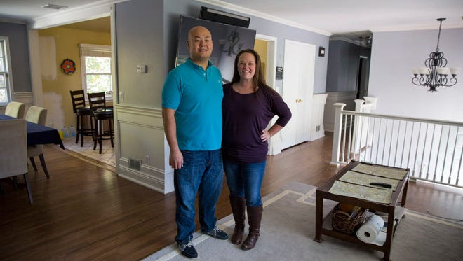 Briana Clauss and her husband, Thuat To, bought a home in Washington Township recently, after renting for years.