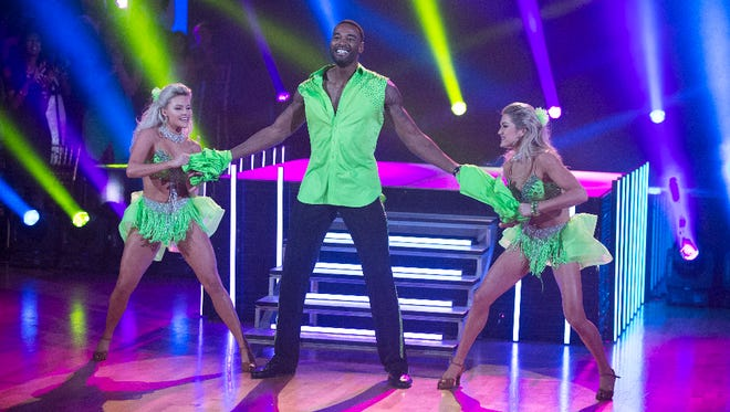 """Lions great Calvin Johnson in """"Dancing with the Stars."""""""