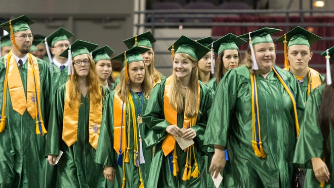 Pensacola State College's 2016 fall commencement ceremony at the Pensacola Bay Center Sunday afternoon.