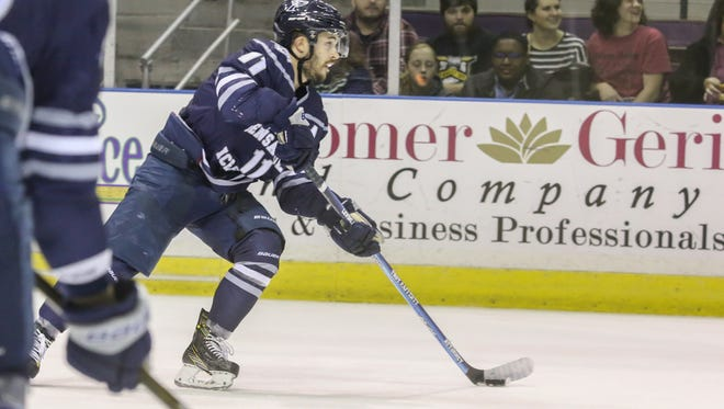 The Ice Flyers' Louis Belisle had team's only goal last night and it enabled him to tie and SPHL record for most goals (18) in a season by a defenseman.
