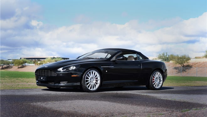 This 2006 Aston Martin DB9 Volante is scheduled for auction at Barrett-Jackson Scottsdale on Sunday, Jan. 22, 2017.