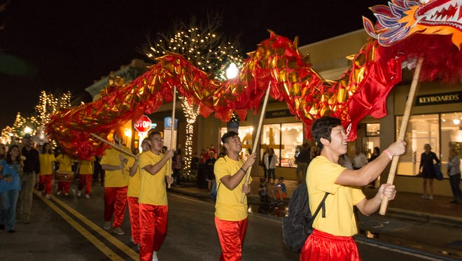 The January Gallery Night featured decorations and activities celebrating the Chinese Lunar New Year.