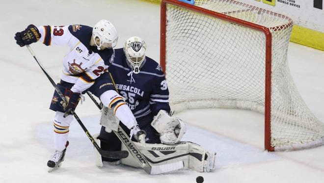 Ice Flyers goaltender Matt Zenzola, 23, who grew up in San Diego, has been a playoff force in net for this team and takes a 9-0 post-season win streak into the SPHL President's Cup semifinal series against Macon.