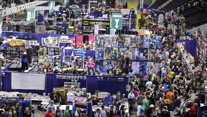 Thousands of people make their way through the Pensacola Bay Center on day two of Pensacon 2017. Tickets for the 2018 event, set for Feb. 23-25, went on sale Saturday.