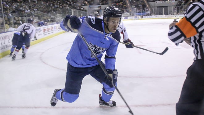The Ice Flyers'  Massimo Lamacchia was the Game 1 star Tuesday night with a goal and assist in the team's 3-1 win at Fayetteville. They can win the series Thursday in Pensacola.