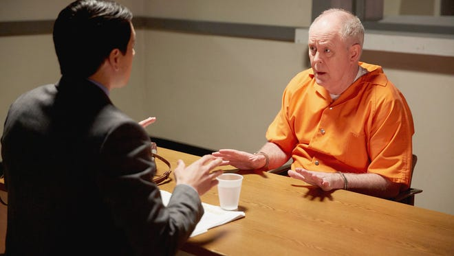 Nicholas D'Agosto plays a lawyer hired to defend accused murdered Larry Henderson (John Lithgow) in NBC's 'Trial & Error.'