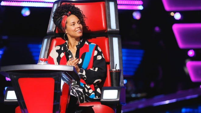 "Alicia Keys on ""The Voice."""