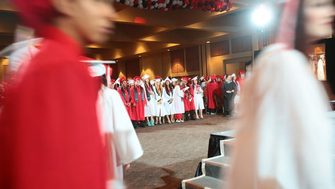 Graduation is held for Palm Springs High School's 75th class on Tuesday, June 3, 2014 at the Palm Springs Convention Center.
