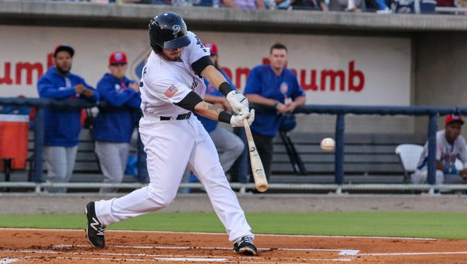 The Blue Wahoos Blake Trahan had a pair of RBIs Wednesday as team got 5-3 win at Mobile to break three-game losing streak.