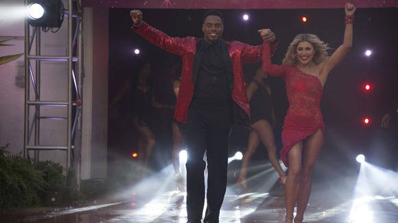 Rashad Jennings and Emma Slater on night two of the