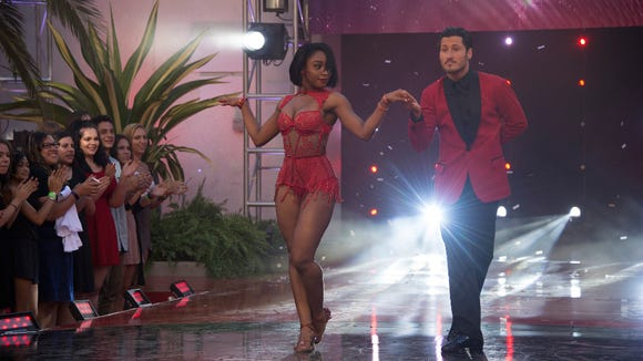 Normani Kordei and Valentin Chmerkovskiy at the final