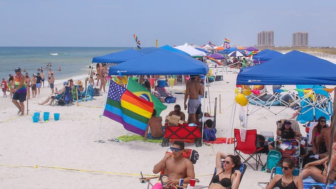 Thousands of people filled up Park East on Pensacola Beach on Saturday, May 27, 2017, during the annual LGBT Memorial Day weekend.