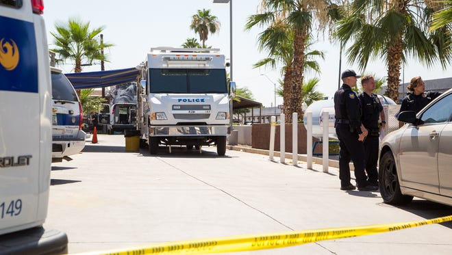 Phoenix Police are investigating a woman found dead at a Texaco gas station Monday morning near Seventh Street and Indian School Road.
