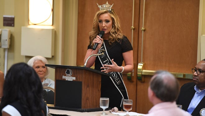 The Jackson Old Hickory Rotary Club and Lions Club welcomed Miss Tennessee 2016 Grace Burgess and the 2017 Miss Tennessee Scholarship Pageant contestants to a luncheon, Monday, June 19.