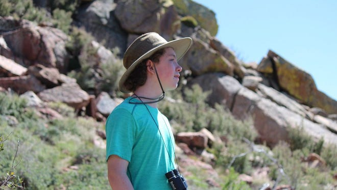 Fifteen-year-old Frederick Valyocsik, lives in California Hot Springs in the Giant Sequoia National Monument.