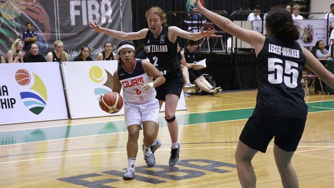 In this file photo, Team Guam's U17 team plays New Zealand in the 2017  FIBA U17 Women's Oceania Championship. Guam is looking for top youth basketball talent for its U15 girls and boys teams.