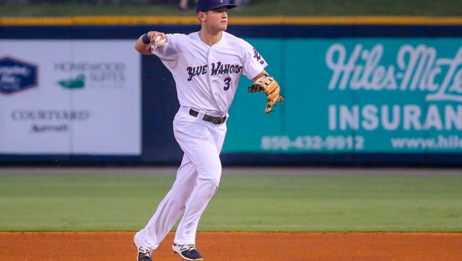 Blue Wahoos' Josh VanMeter is among six returning players to be honored Wednesday night as the team celebrates last year's Southern League championship at the home opener.