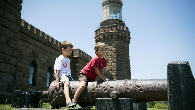 File photo: Joel Gransted 3 and his brother Caleb Gransted 5 L-R, of California, visited the Navesink Twin Lights with their grandparents Jose and Mary Vasconcellos and aunt Gloria  Vasconcellos of Morganville.