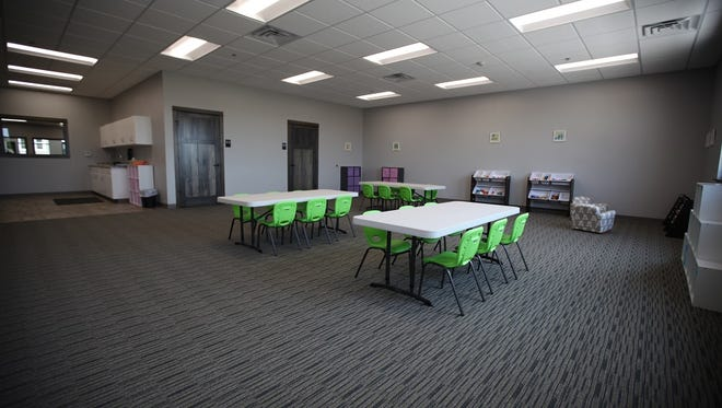Creative Steps Childcare Center features a gym, full kitchen, activity room, imagination room, curriculum room and individual classrooms for each level of child development.