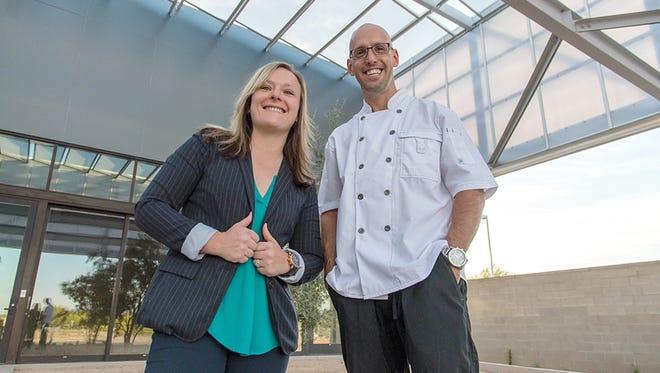 Erika Rode and Chef Ehren Litzenberger.