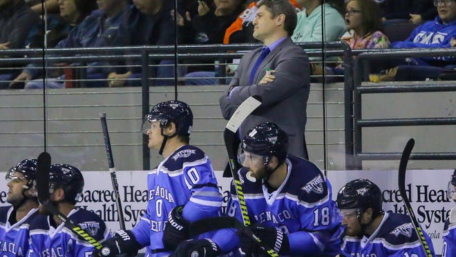 Ice Flyers coach Jeff Bes has watched his team struggle in last two weeks, including Friday's 4-1 loss at Huntsville