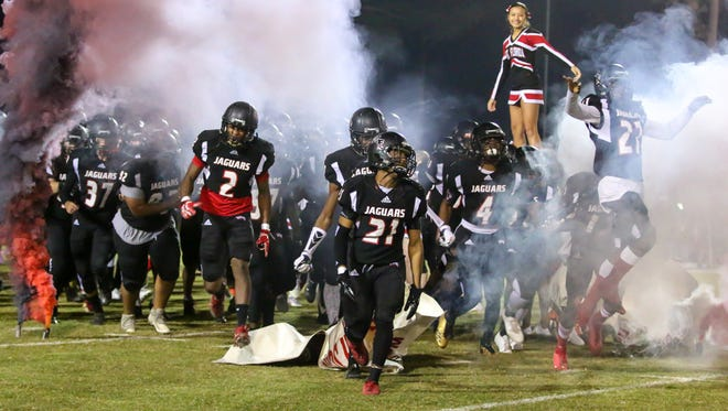 The West Florida Jaguars take on the Wakulla War Eagles in the Region 1-5A semifinal game at Woodham Middle School on Friday, November 17, 2017.