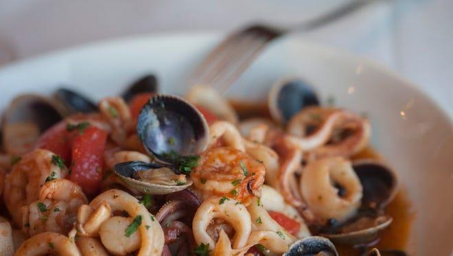Seafood dish.