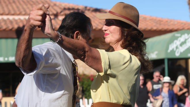 El Paseo in Palm Desert was transported back in time Saturday, as vintage and swing enthusiasts gathered for the annual Swing 'N Hops Street Party.
