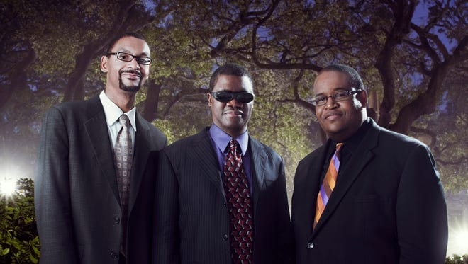"""From left, Jason Marsalis, Marcus Roberts and Rodney Jordan will be on hand to celebrate Jordan's new album, """"Playing Jazz, Vol. 1,"""" at B Sharp's Jazz Cafe on Thursday, March 8."""